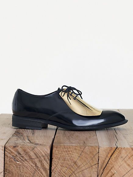 Celine black & gold plate oxfords <3