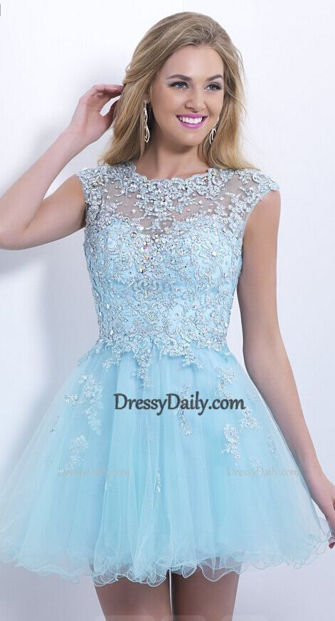 Short blue prom dresses cheap