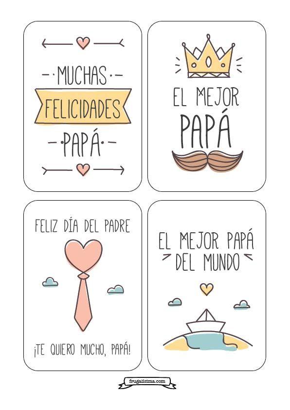 ¡Imprimibles gratis para el Día del Padre! Banderines, tarjetas y toppers