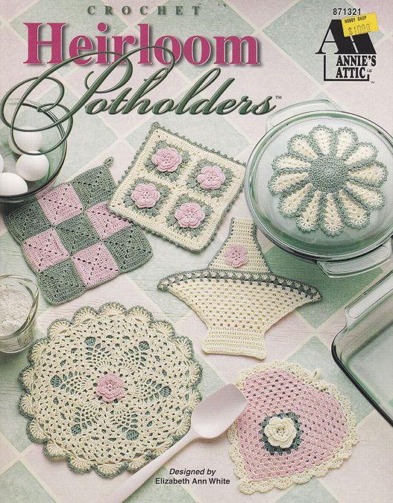 Heirloom Potholders Crochet Patterns | Tejido de crochet, Portavasos ...