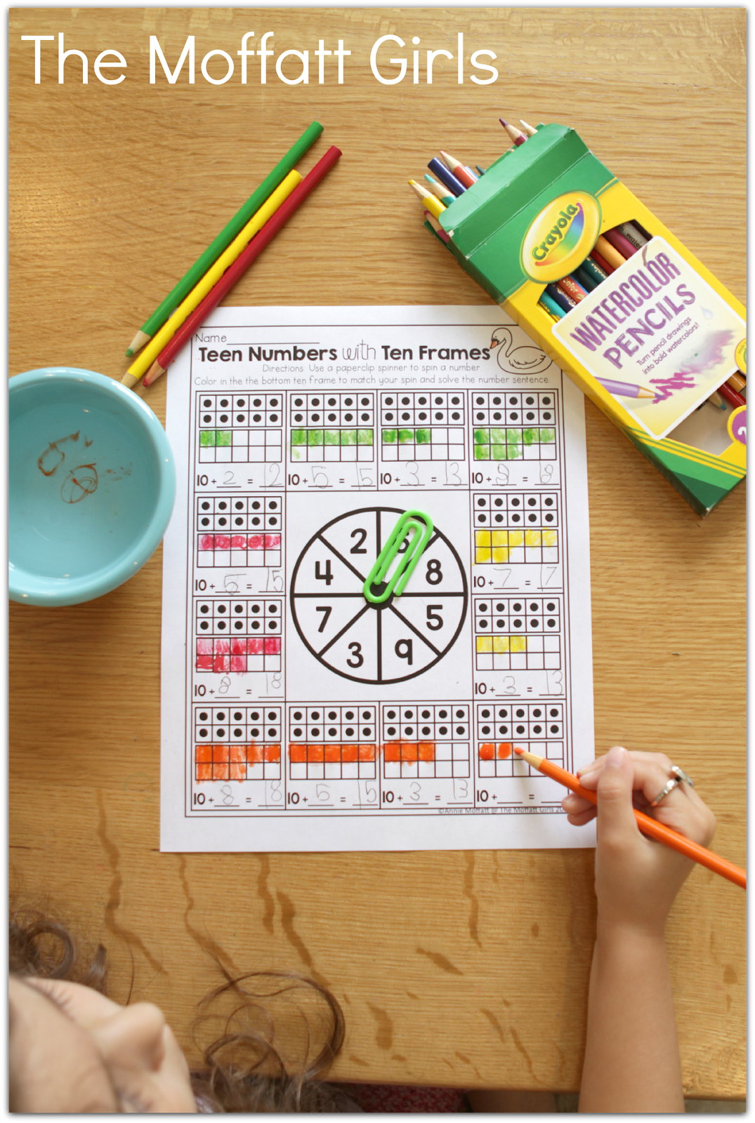 Teen Numbers With Ten Frames Build Math Skills With This Fun Game Spin A Number Color In The