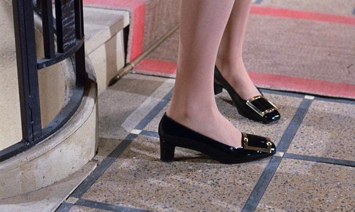 Catherine Deneuves pilgrim buckle shoes by Roger Vivier for Yves Saint  Laurent. Belle de Jour da68901d497eb