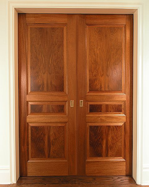 Crotch mahogany double doors upstate door custom for Mahogany interior doors