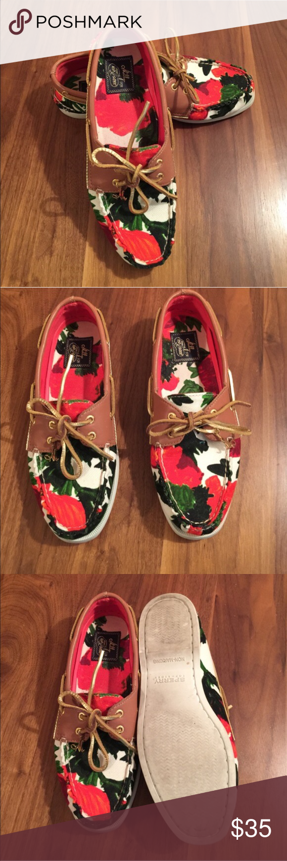 Limited Edition Milly Sperry Top-Siders Preloved floral Sperry Top-Sider! Milly exclusive! Size 8.5! Perfect for the upcoming spring and summer! Sperry Top-Sider Shoes