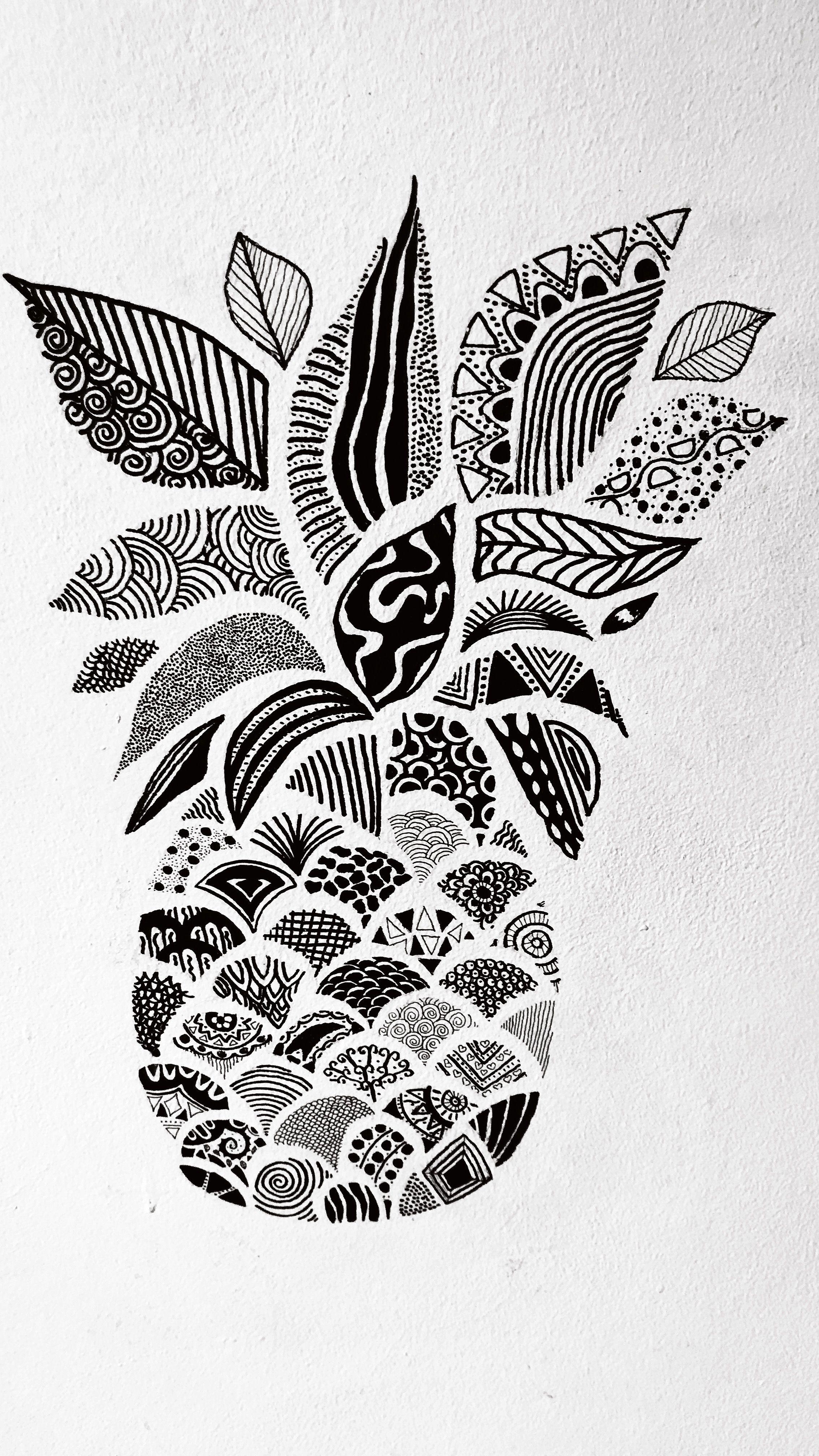 abacaxi mandala por leticiagomesss  mandala desenho