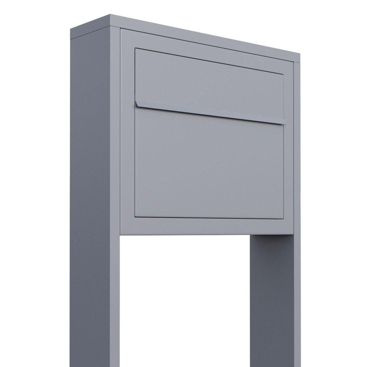 Bravios Design Wandbriefkasten Elegance Grau//Edelstahl Briefkasten