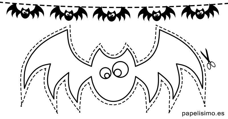 guirnaldas-de-halloween-para-colorear-murcielagos | NOK | Pinterest ...
