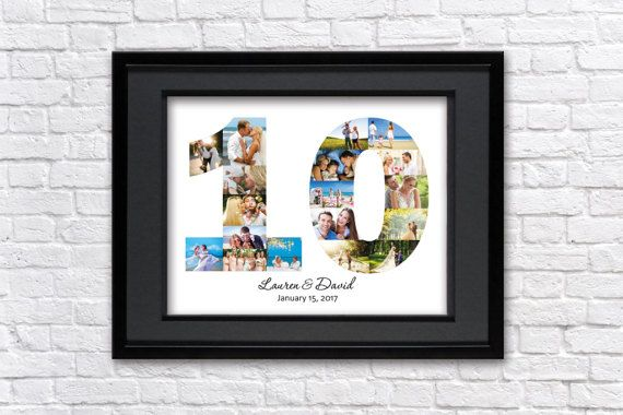 10 Year Anniversary Gift Photo Collage Tin Anniversary Gift Etsy Tin Anniversary Gifts 10 Year Anniversary Gift 10th Anniversary Gifts