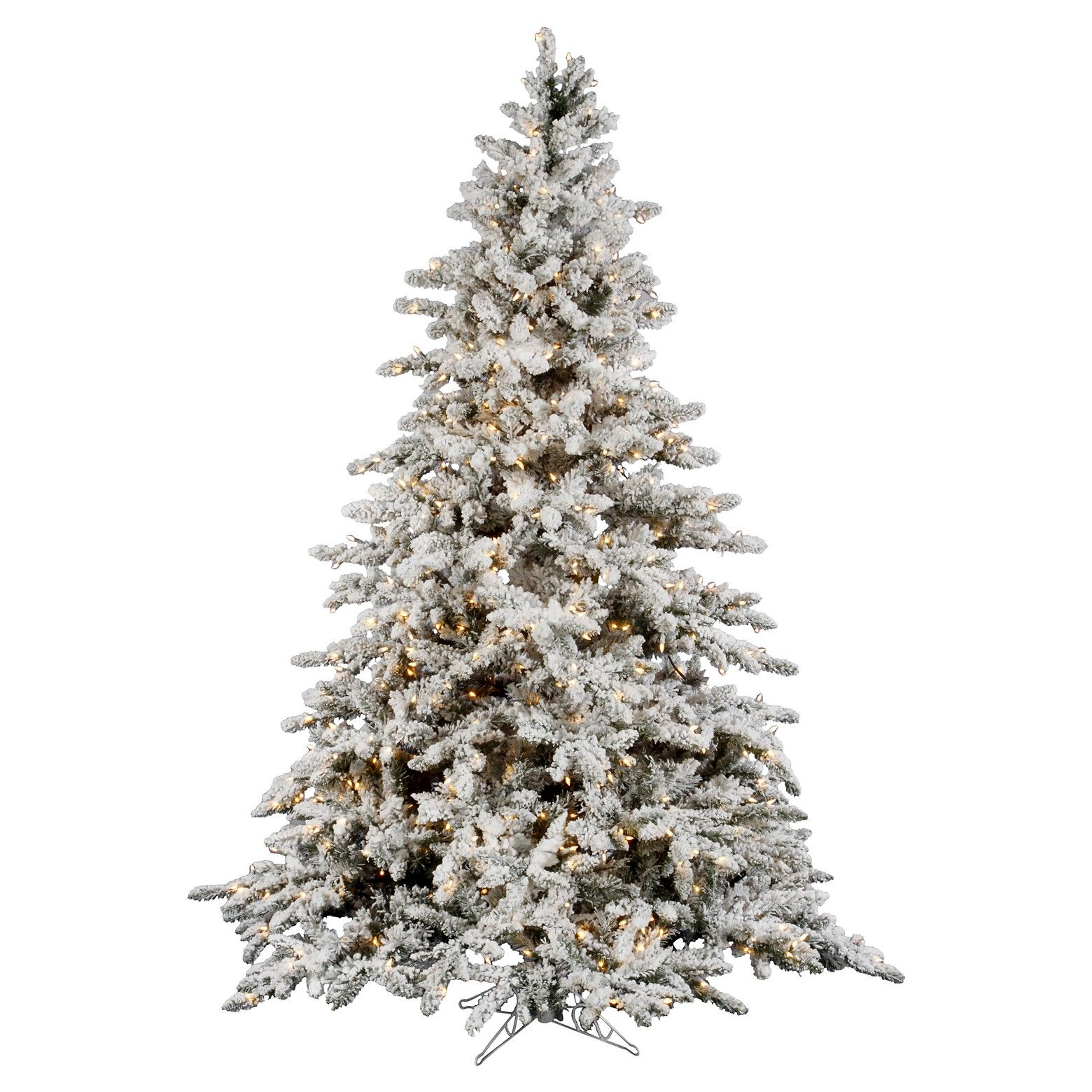 Frosted Slim Christmas Tree: The 7.5' Pre-Lit Artificial Christmas Tree White Flocked