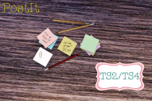 PAPER CLUTTER POST IT at Mony Sims • Sims 4 Updates