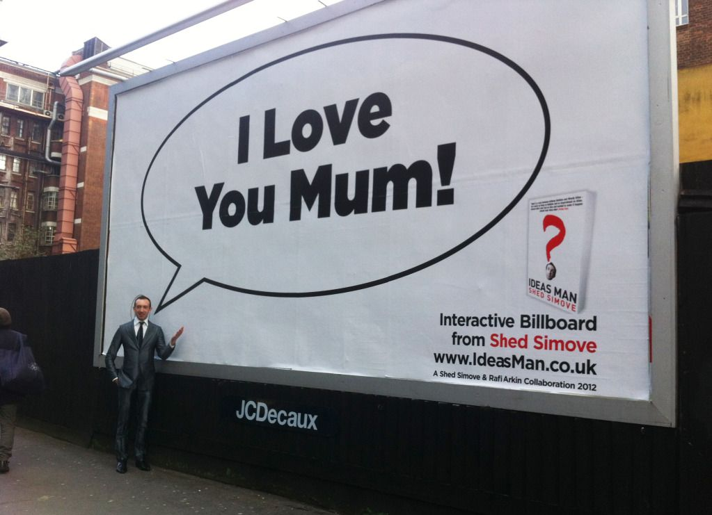 "Mothers day is round the corner  the ""interactive"" billboard by shed simove"