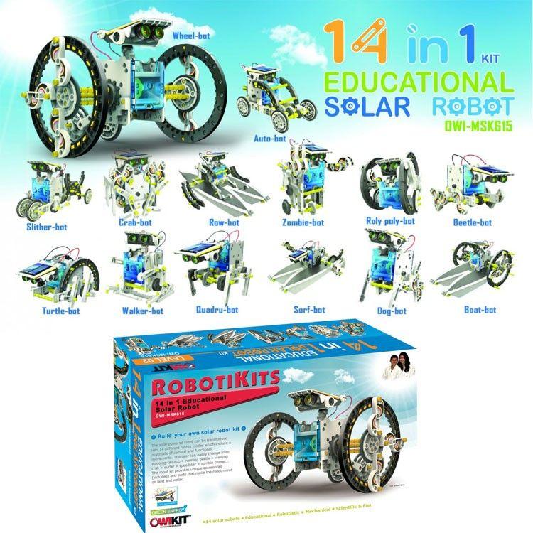 14-in-1 Solar Robot Building Science Kit | Science kits ...