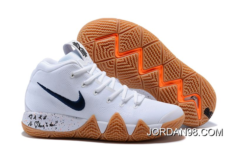 "1e06f4863be9 2018 Nike Kyrie 4 NCAA ""March Madness"" White Multi-Color Sneakers in ..."