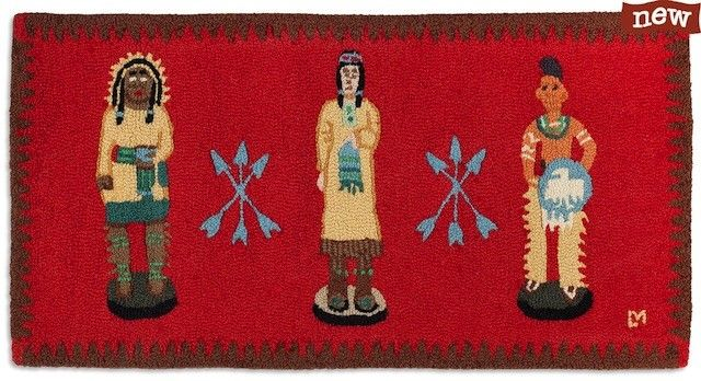 Chandler 4 Corners Cigar Store Indians Rug   #rug, #western   $110   thepicketfence.com