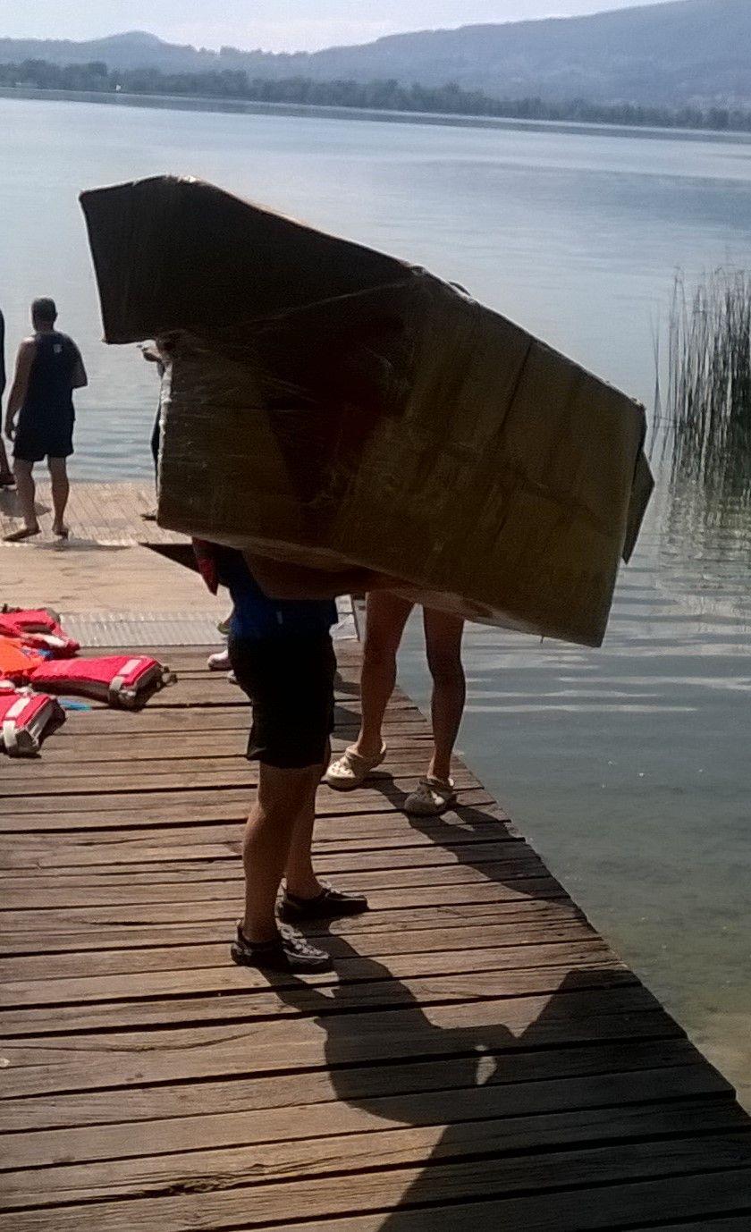 gara canoe di cartone - Bosisio Parini- Pusiano