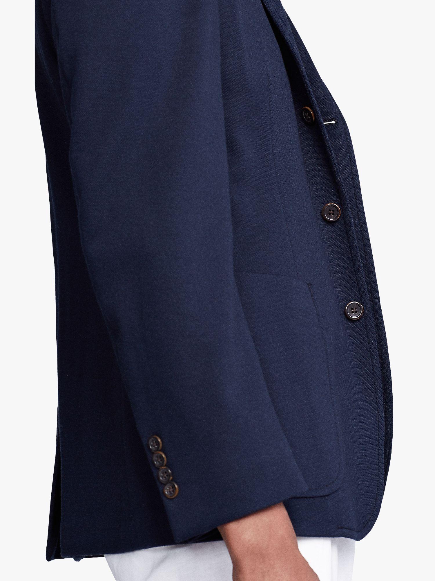 Polo Ralph Lauren Knit Mesh Cotton Blazer Navy In 2020 Cotton Blazer Polo Ralph Lauren Slim Chinos