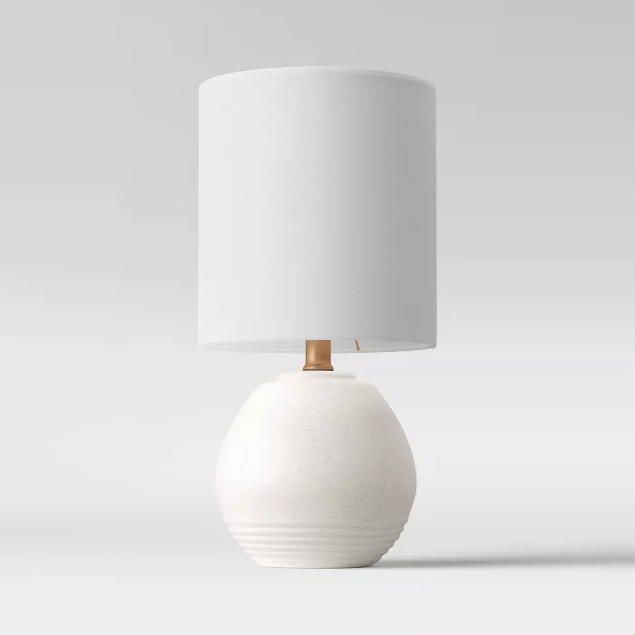 Ceramic Ringed Accent Lamp Aged White Includes Led Light Bulb Opalhouse Accent Lamp Table Lamp Lamp