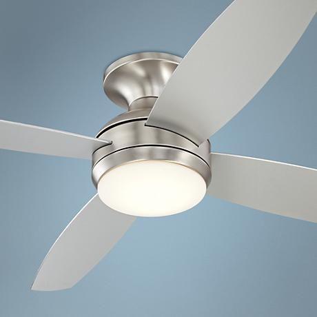 52 casa elite brushed nickel led hugger ceiling fan ceiling fan 52 casa elite brushed nickel led hugger ceiling fan 8y397 lamps plus mozeypictures Images