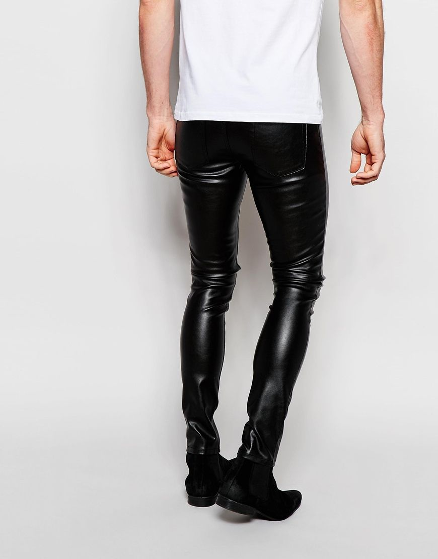 Image 2 of ASOS Meggings In Faux Leather