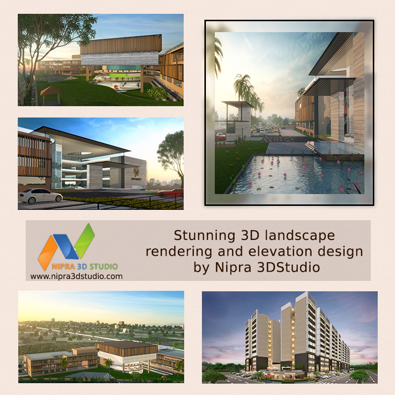 Contemporary #3DRendering Ideas for your Building! Nipra 3D Studio develops #3DExterior and #Interior rendering of the buildings or rooms which seem to be realistic and gives the feel of the actual depth in the scene. Explore now at: http://goo.gl/K3WbKc