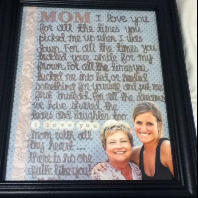 Perfect Gift/crafty Idea For A Mom's Birthday Or Mother's
