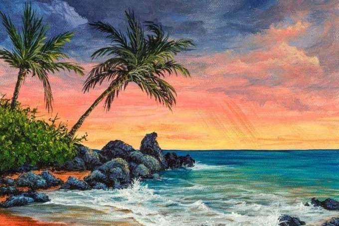 15 Kolase Pemandangan Bawah Laut 17 Contoh Gambar Pemandangan Alam Gunung Pantai Luat Download Jual Prod Di 2020 Pemandangan Sunset Beach Lukisan Pemandangan Kota