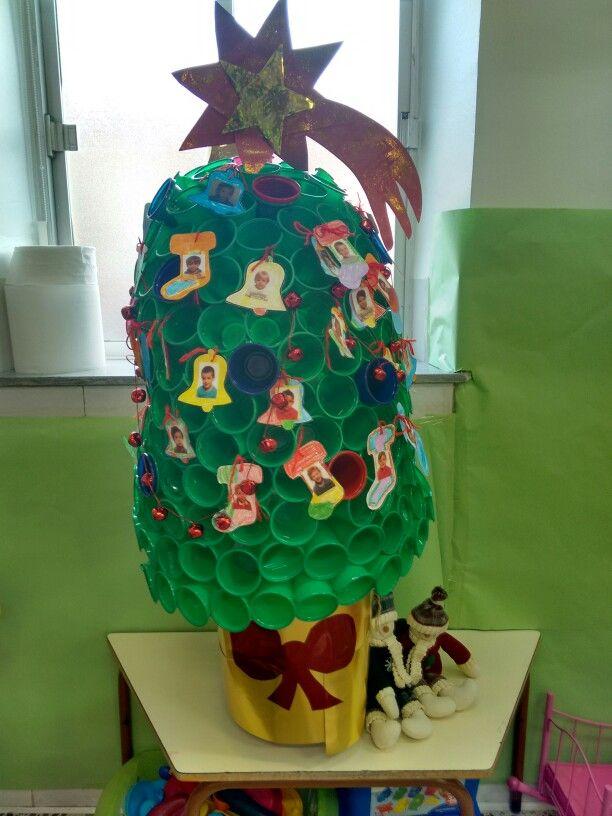 Arbol De Navidad Con Vasos De Plastico Ideas Cole Proyectos - Arbol-de-navidad-con-vasos-de-plastico