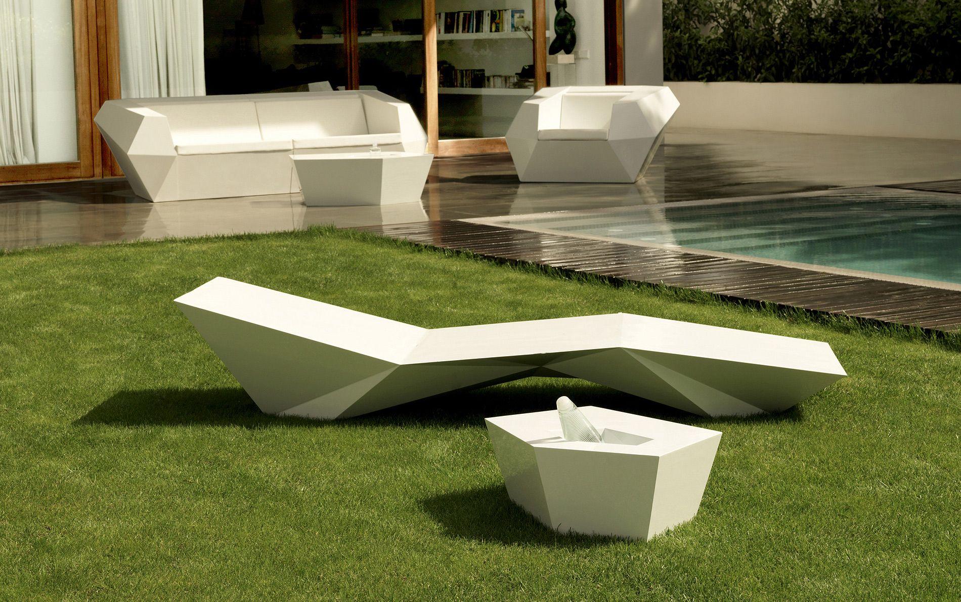 Designer Gartenliege faz tumbona liege möbel gartenmöbel gartensitzmöbel