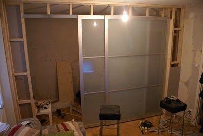 Turn One Room Into Two With Ikea Wardrobe Doors Indigo