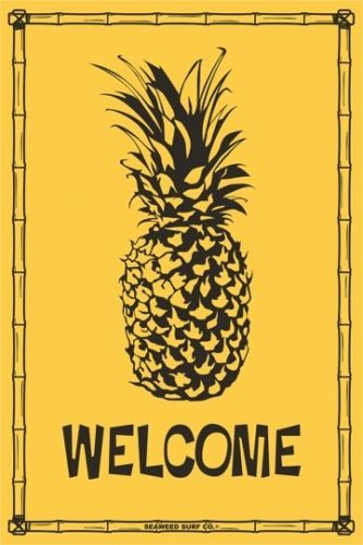 details about welcome pineapple aluminum metal traffic on simply wall street id=36405