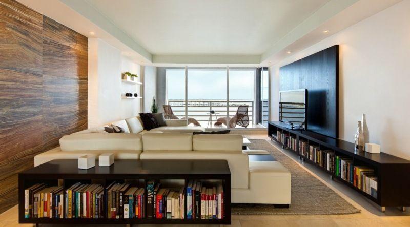 wohnzimmer und schlafzimmer im schmalen raum kombinieren - wohnzimmer gestalten tipps