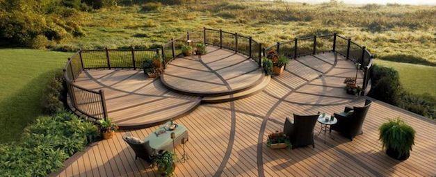 Beautiful deck. Leaf motif.