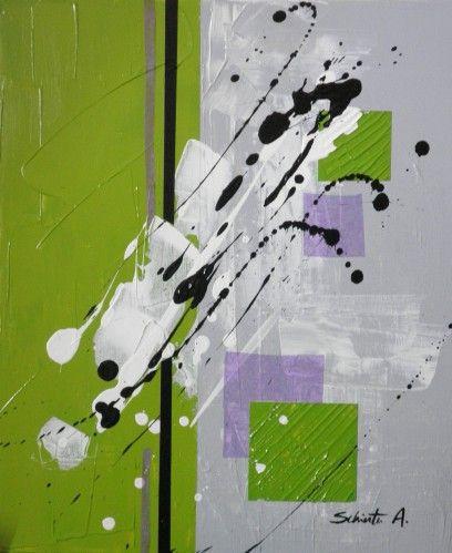 Peinture acrylique mortier de structure et collage for Peinture moderne geometrique
