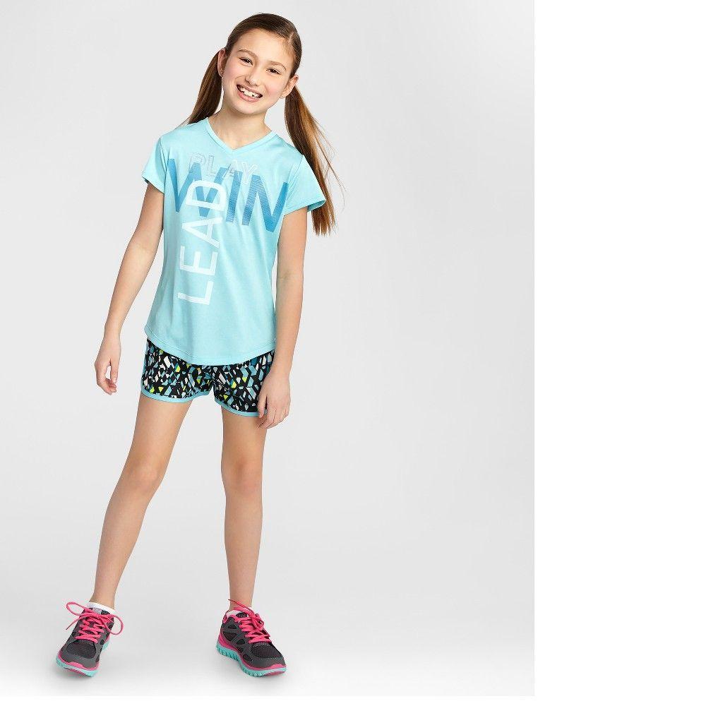 f6081cc05b96b Girls' Graphic Tech T-Shirt Turquoise XL - C9 Champion, Girl's, Blue ...