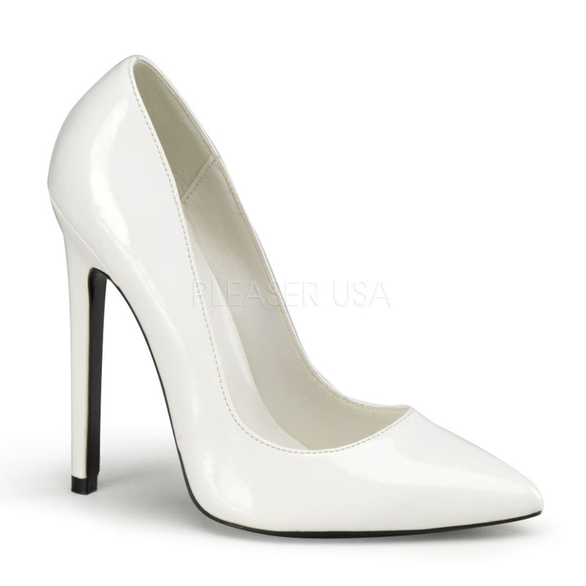 4c59fac919f1 Pleaser Devious Women s  Sexy-20  Patent Faux Pointed Toe Pumps ...