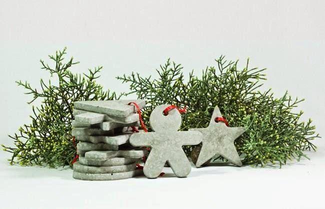 Econotas Com Adornos De Navidad Con Cemento Reciclado Adornos De Navidad Decoración De Navidad Manualidades