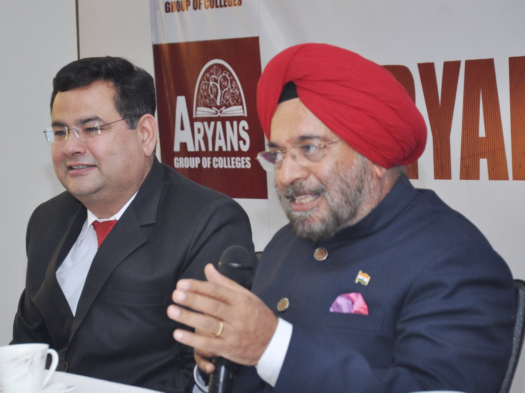 A delegation of Aryans Group of Colleges, Chandigarh would