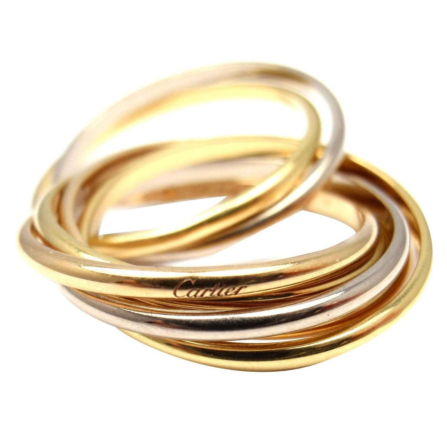 72928c1cf1286 Cartier Trinity 7 Band Tricolor Gold Ring | fashion I love | Gold ...