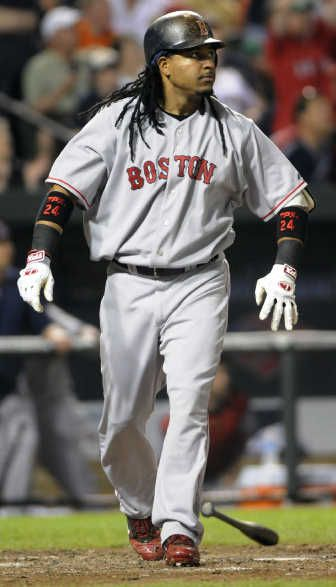 Manny Ramirez, Boston Red Soxs...recently retired - tested positive for drug enhancement