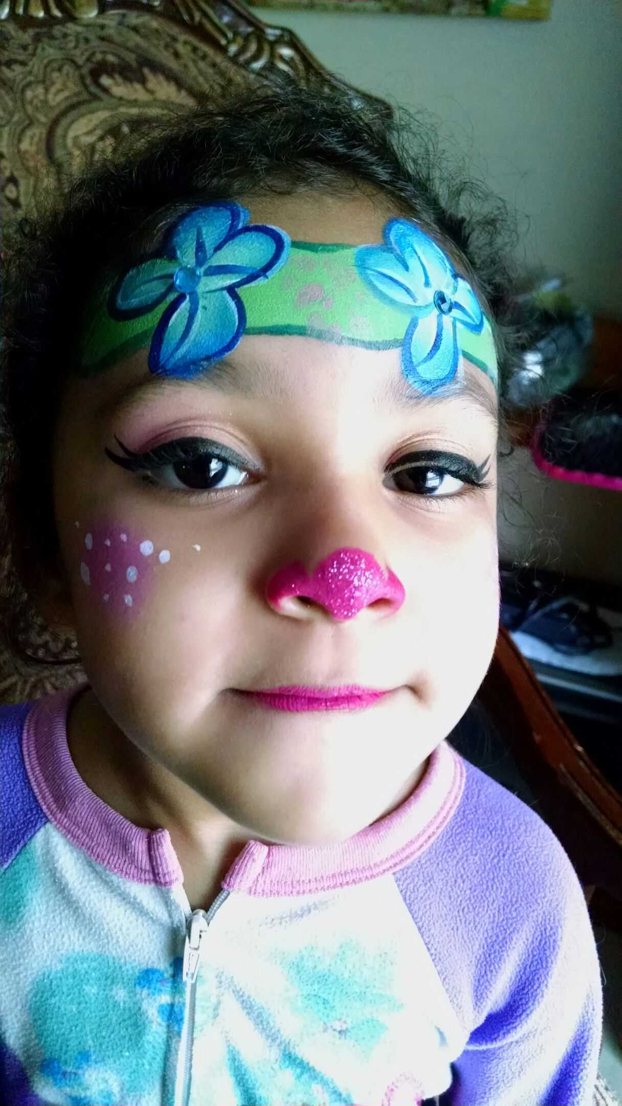 Face Paint Supplies Adelaide Trolls Poppy Face Painting Idea Maria S Funtastic Faces Troll