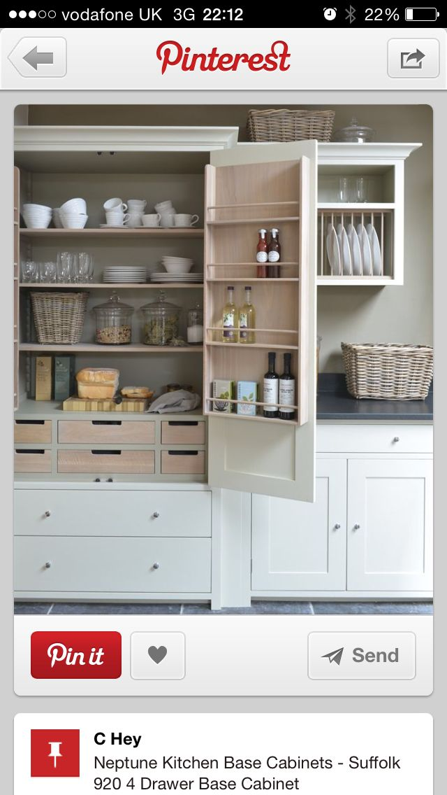 Beautiful kitchen larder pantry