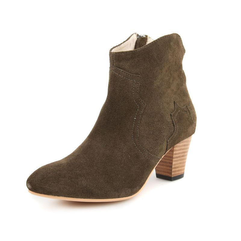 Isabel Marant Dicker Suede Ankle Boots Khaki,Isabel Marant Dicker Boots,Isabel  Marant Boots