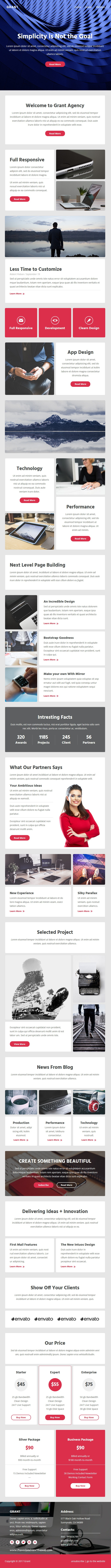 Grant Email Template  Online Emailbuilder   Responsive Email