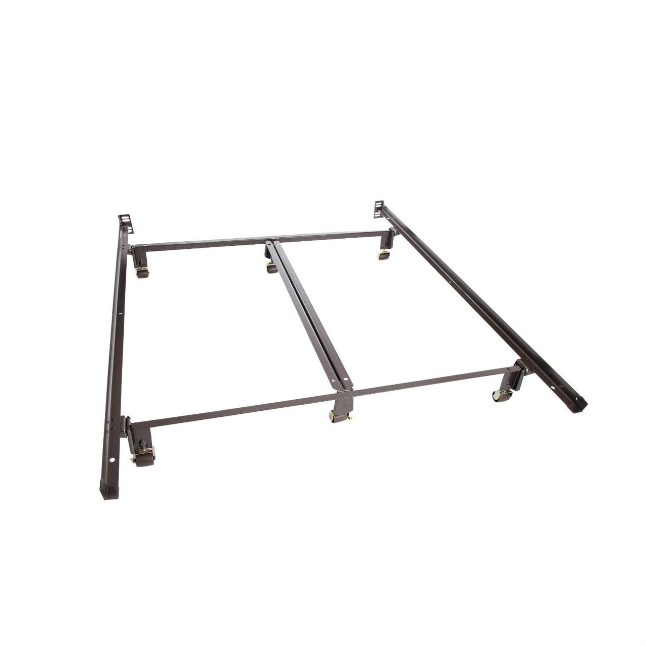 Queen Size Metal Bed Frame With Double Center Rail For Maximum