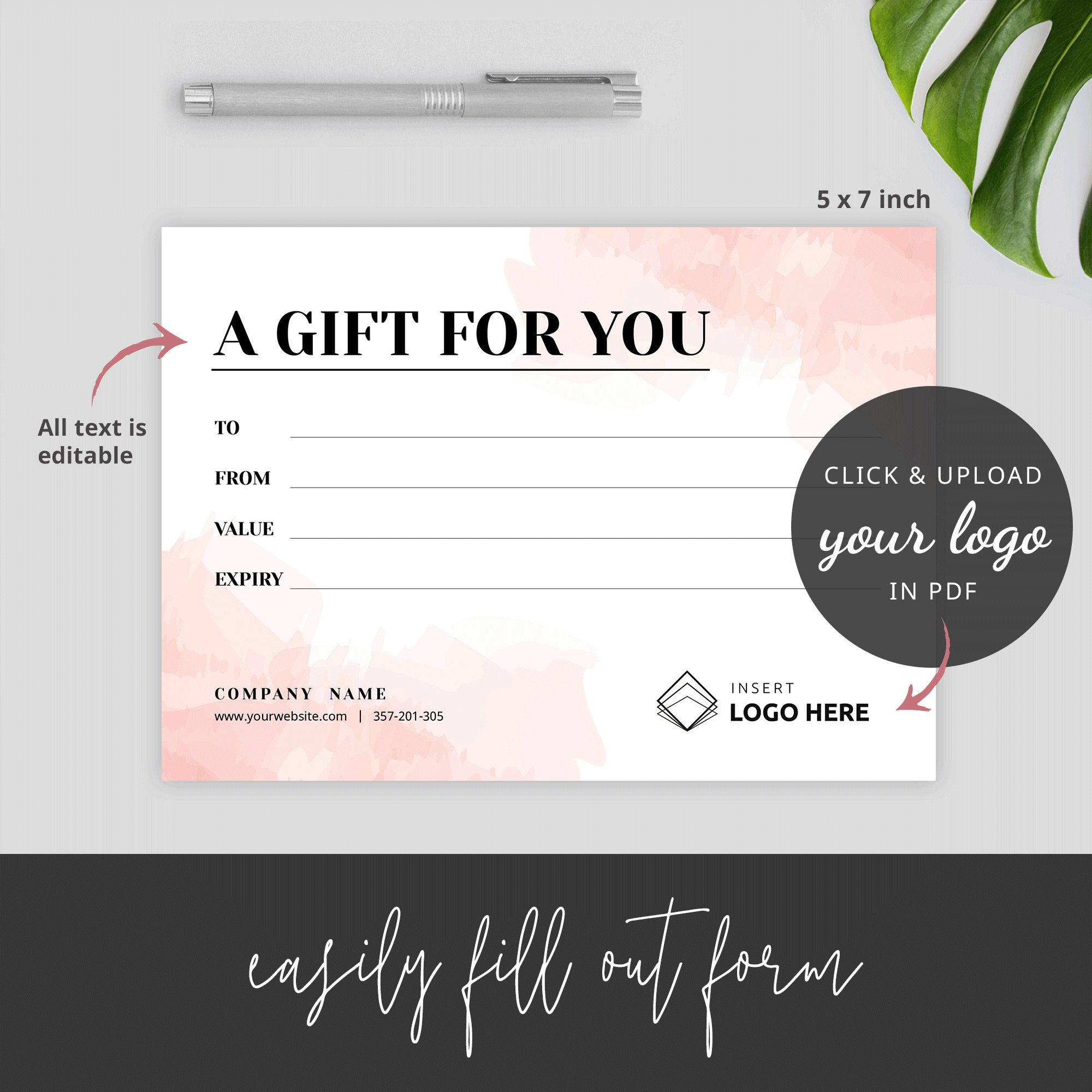 Gift Certificate Template Editable Gift Card Template Gift Voucher Template Di Photography Gift Certificate Template Gift Card Template Printable Gift Cards