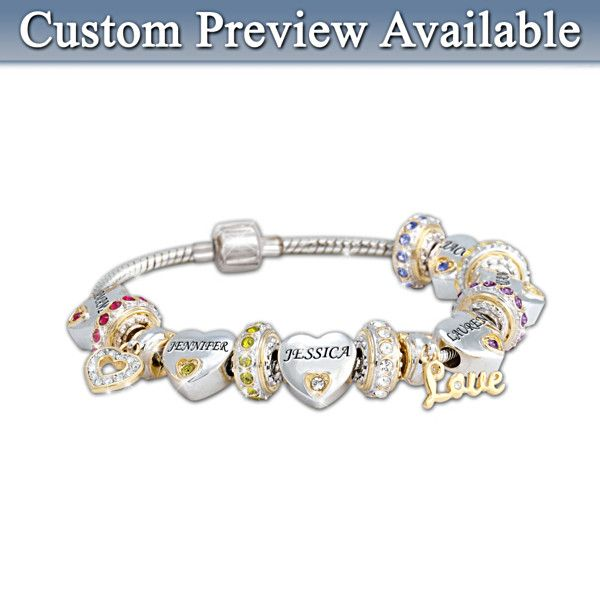 Forever In A Mother S Heart Personalized Bracelet For Mom Jewelry