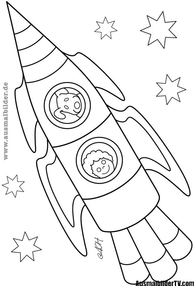 ausmalbilder rakete | kuvis | Pinterest | Solar system and Solar