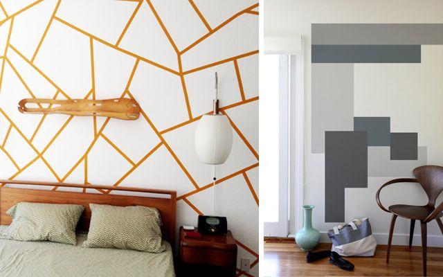 ideas para pintar las paredes con motivos geomtricos