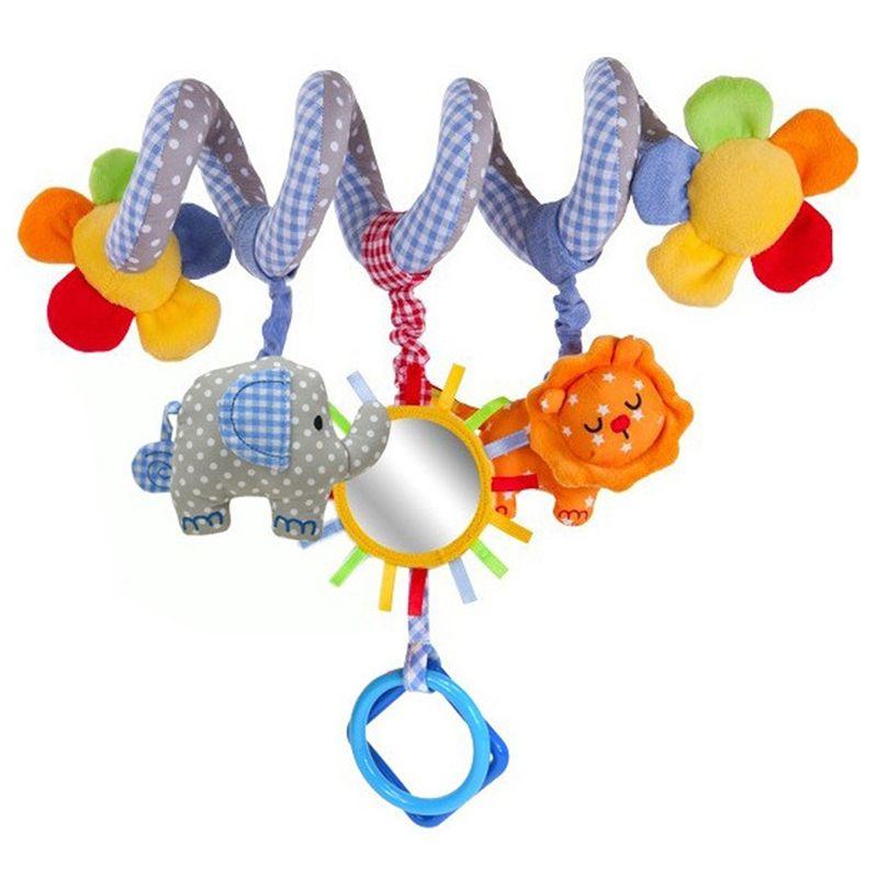 신생아 아기 딸랑이 유아 음악 교육 toys 귀여운 나선형 활동 유모차 자동차 시트 침대 선반 매달려 babyplay 여행 toys
