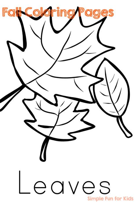 Fall Coloring Pages Simple Fun For Kids Fall Coloring Pages Fall Coloring Sheets Fall Leaves Coloring Pages